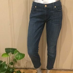 7 for all mankind cropped gwenevere Skinny Jeans